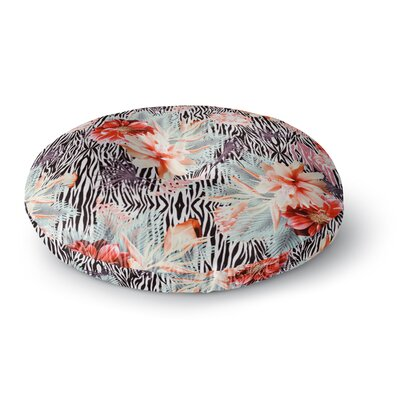 Nika Martinez Tropical Fusion Floral Round Floor Pillow Size: 23 x 23