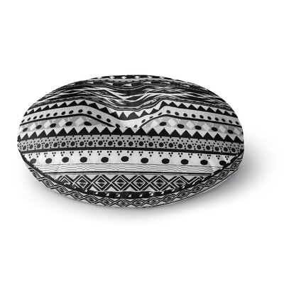 Nika Martinez Black Hurit Round Floor Pillow Size: 26 x 26