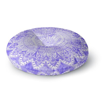 Nika Martinez Boho Flower Mandala in Purple Round Floor Pillow Size: 26 x 26