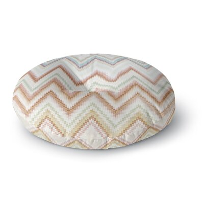 Nika Martinez Seventies Chevron Round Floor Pillow Size: 23 x 23