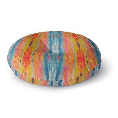 Nika Martinez Boho Tie Dye Round Floor Pillow Size: 23 x 23