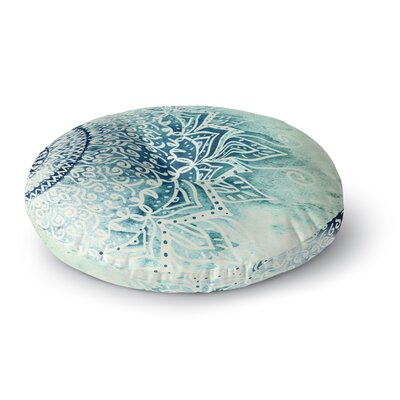 Nika Martinez Blue Mina Mandala Geometric Round Floor Pillow Size: 23 x 23
