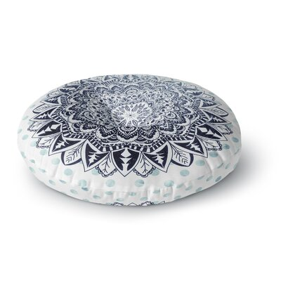 Nika Martinez Dots Mandala Illustration Round Floor Pillow Size: 26 x 26