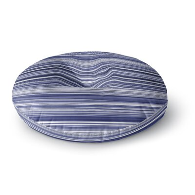 Monica Martinez Nautical Stripes Mixed Media Round Floor Pillow Size: 23 x 23