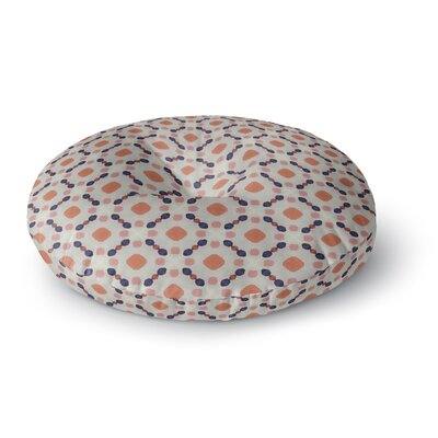Monica Martinez VINTAGE DOTS Illustration Round Floor Pillow Size: 26 x 26