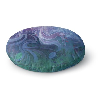 Mat Miller Electric Dreams II Round Floor Pillow Size: 26 x 26