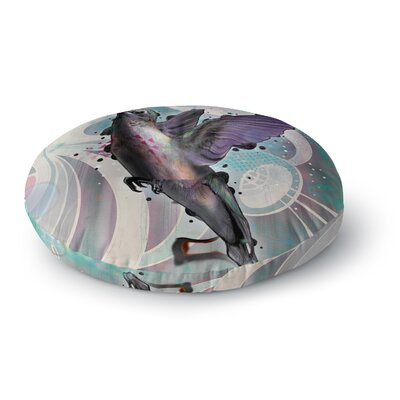 Mat Miller Reaching Hummingbird Round Floor Pillow Size: 23 x 23