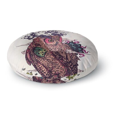 Mat Miller Regrowth Natural Owl Round Floor Pillow Size: 23 x 23