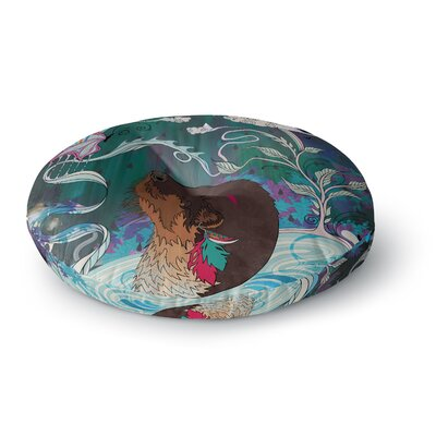 Mat Miller Delicate Distraction Otter Round Floor Pillow Size: 23 x 23