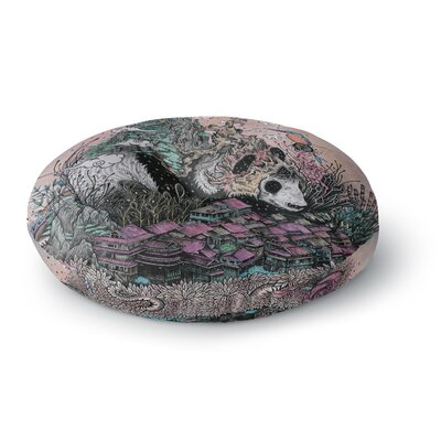 Mat Miller Land of the Sleeping Giant Panda Round Floor Pillow Size: 23 x 23