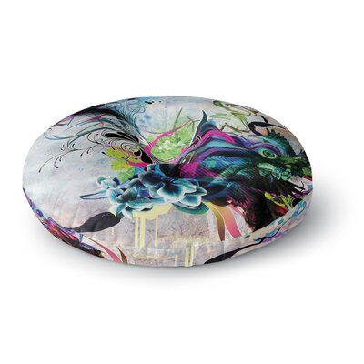 Mat Miller Streaming Eyes Abstract Round Floor Pillow Size: 26 x 26