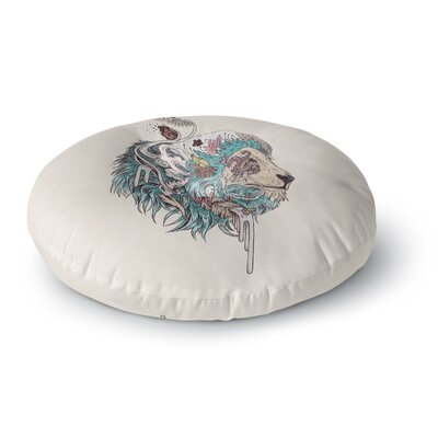 Mat Miller Unbound Autonomy Abstract Lion Round Floor Pillow Size: 26 x 26