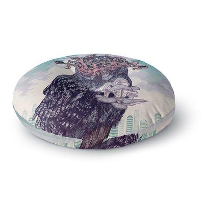Mat Miller Journeying Spirit, Owl Fantasy Round Floor Pillow Size: 23 x 23