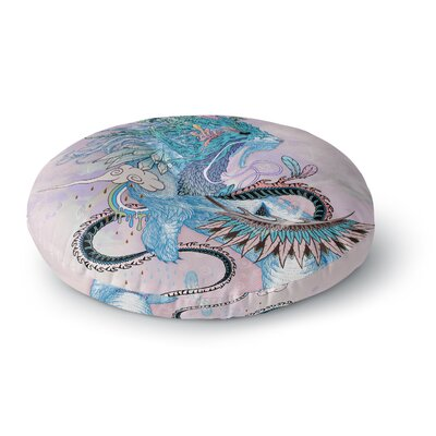 Mat Miller Journeying Spirit, Ermine Fantasy Round Floor Pillow Size: 23 x 23