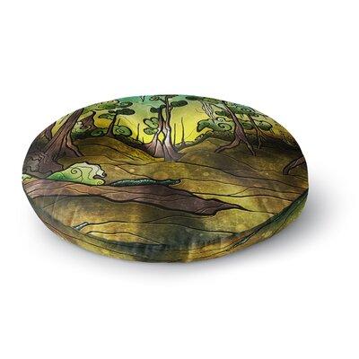 Mandie Manzano Aligator Swamp Round Floor Pillow Size: 23 x 23