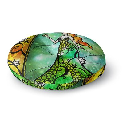 Mandie Manzano Fairy Tale Frog Prince Round Floor Pillow Size: 26 x 26