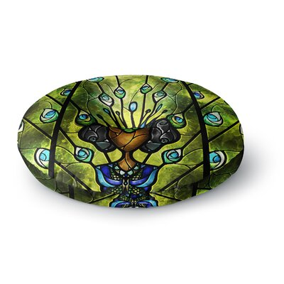 Mandie Manzano Angel Eyes Round Floor Pillow Size: 26 x 26