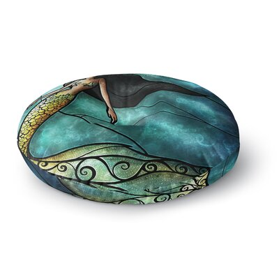 Mandie Manzano Mermaid Round Floor Pillow Size: 23 x 23