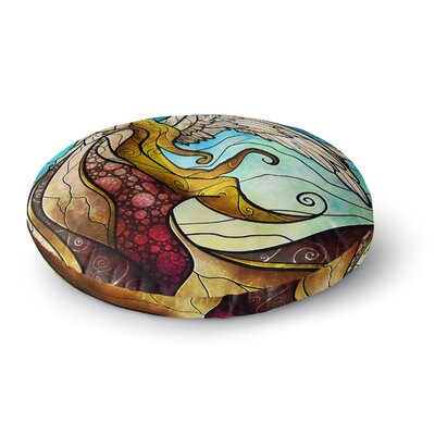 Mandie Manzano In the arms of the Angel Round Floor Pillow Size: 23 x 23