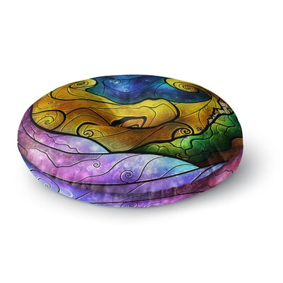 Mandie Manzano Starry Lights Round Floor Pillow Size: 26 x 26