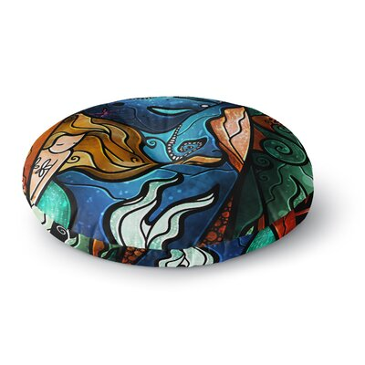 Mandie Manzano Fathoms Below Mermaid Round Floor Pillow Size: 26 x 26