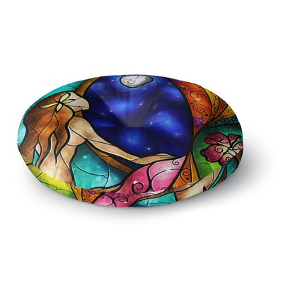 Mandie Manzano I Miss You Round Floor Pillow Size: 26 x 26