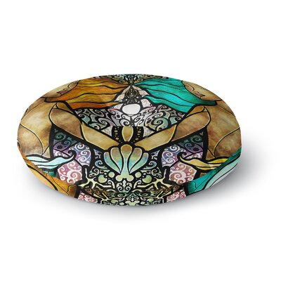 Mandie Manzano Mermaid Twins Round Floor Pillow Size: 23 x 23