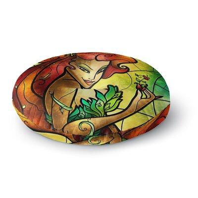 Mandie Manzano Poison Ivy Villain Round Floor Pillow Size: 26 x 26