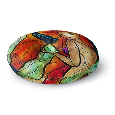 Mandie Manzano Ariel Mermaid Round Floor Pillow Size: 26 x 26