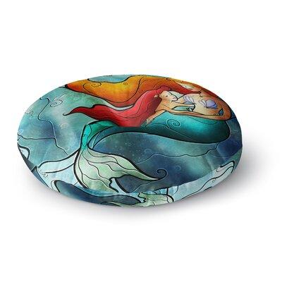 Mandie Manzano I Remember Love Mermaid Round Floor Pillow Size: 26 x 26