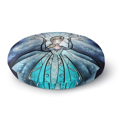 Mandie Manzano The Snow Queen Frozen Round Floor Pillow Size: 26 x 26
