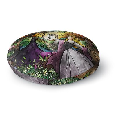 Mandie Manzano I Know You Fairytale Forest Round Floor Pillow Size: 23 x 23