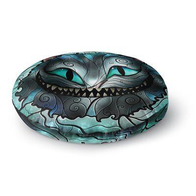 Mandie Manzano Mad Chesire Cat Round Floor Pillow Size: 26 x 26