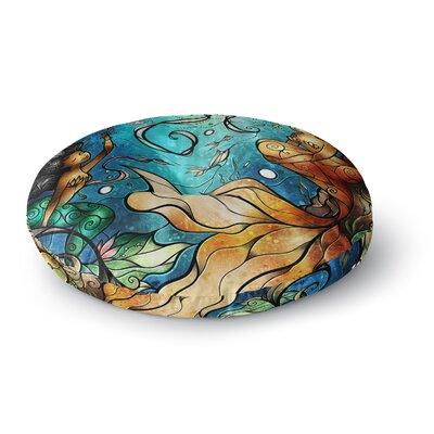 Mandie Manzano Under the Sea Mermaids Round Floor Pillow Size: 23 x 23