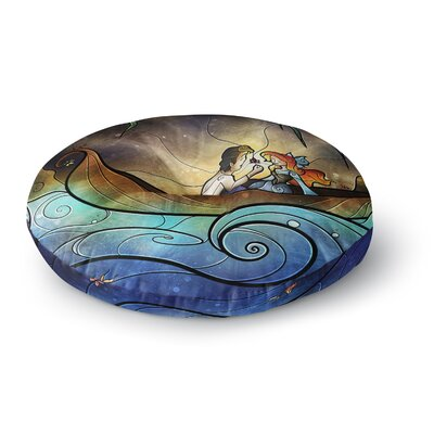 Mandie Manzano Something About Her Mermaid Round Floor Pillow Size: 26 x 26
