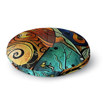 Mandie Manzano Sea Dance Round Floor Pillow Size: 23 x 23