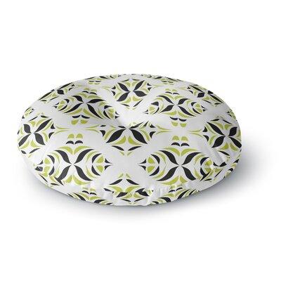 Miranda Mol Lime Green Rainforest Round Floor Pillow Size: 23 x 23