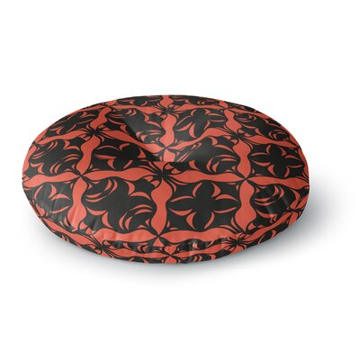 Miranda Mol Oval Orange Love Round Floor Pillow Size: 26 x 26