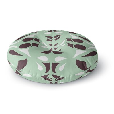 Miranda Mol Swirling Teal Round Floor Pillow Size: 23 x 23