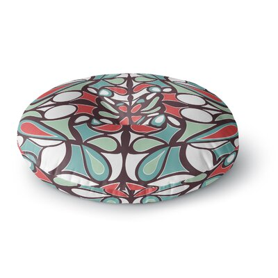 Miranda Mol Brown Round Tiles Round Floor Pillow Size: 23 x 23