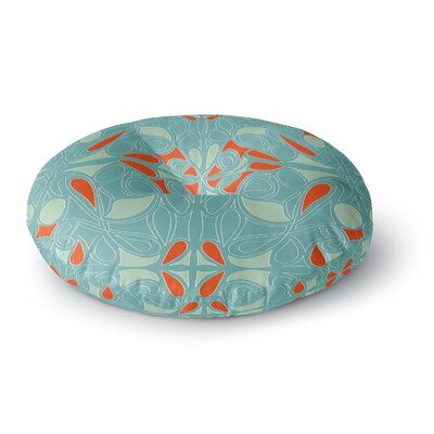 Miranda Mol Seafoam and Orange Round Floor Pillow Size: 26 x 26