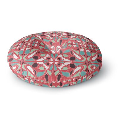 Miranda Mol Stained Glass Pink Round Floor Pillow Size: 26 x 26