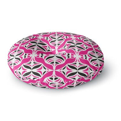 Miranda Mol Think Pink Round Floor Pillow Size: 23 x 23