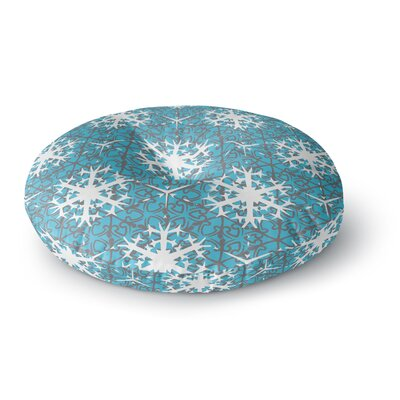 Miranda Mol Precious Flakes Round Floor Pillow Size: 26 x 26
