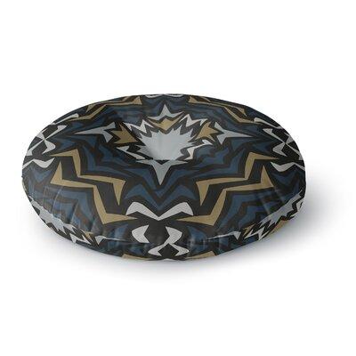 Miranda Mol Winter Fractals Round Floor Pillow Size: 23 x 23