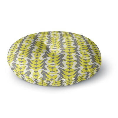 Miranda Mol Whirling Leaves Round Floor Pillow Size: 23 x 23