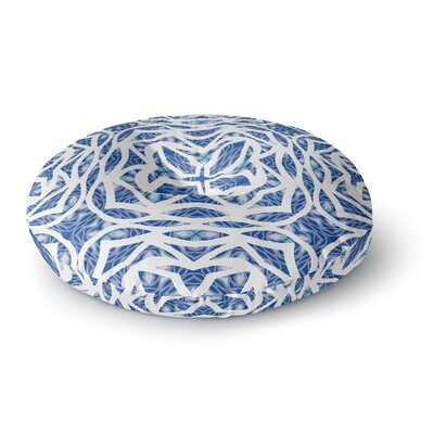 Miranda Mol Blue Explosion Round Floor Pillow Size: 26 x 26