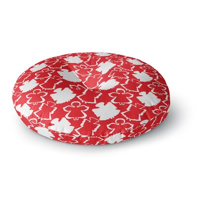 Miranda Mol Dancing Angels Round Floor Pillow Size: 23 x 23