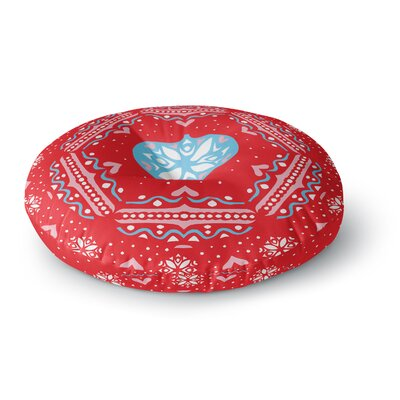 Miranda Mol Snow Joy Red Round Floor Pillow Size: 23 x 23