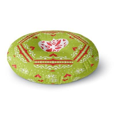 Miranda Mol Snowjoy Green Round Floor Pillow Size: 26 x 26